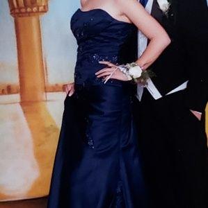 Dresses - Navy blue strapless dress